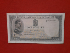 Bancnote romanesti 500lei 1939 supratipar foto