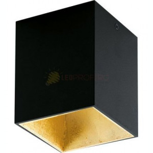 PLAFONIERA LED 3.3W NEGRU AUR