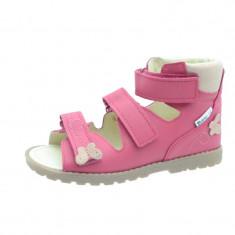 Sandale ortopedice din piele naturala pentru fetite Mrugala 1399F, Roz
