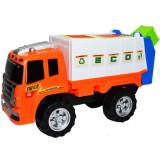 Masina de gunoi de jucarie - Camion de salubrizare cu pubele de gunoi