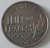 100 franci/francs Franta 1955