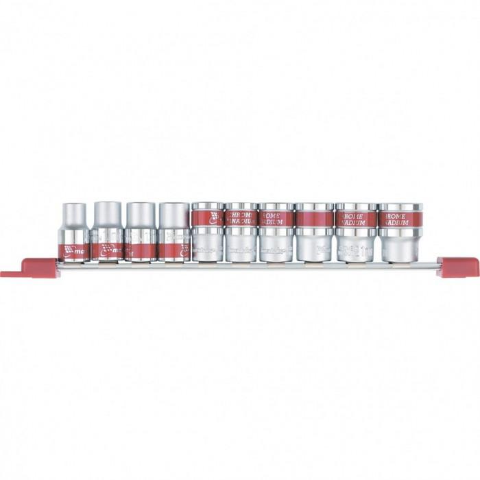 "MTX Set capete tubulare, 1/2"", 6-pereti, 10 buc, 10-22 mm, MTX 135579"