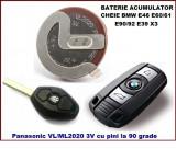 Baterie acumulator cheie BMW E46 E60 E90 E92 E39 E85 X3 Panasonic 90 grade