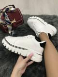 Adidasi dama albi cu platforma marime 36, 37, 39, 40, 41+CADOU