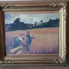 Tablou vechi pictura ulei pe panza - rama Blondel - la seceris