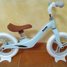 Bicicleta fara pedale cu cadru de magneziu Skillmax C UltaLight 2 kg, blue mint