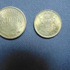 LOT 2 MONEDE ROMANIA 10000 LEI 1947/2000 LEI 1946 aUNC