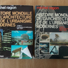 MICHEL RAGON-HISTOIRE MONDIALE DE L'ARCHITECTURE ET DE L'URBANISME MODERNES-1,2
