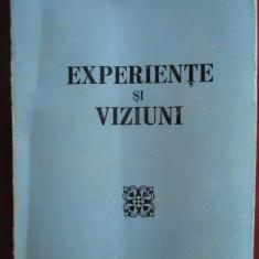 Experiente si viziuni