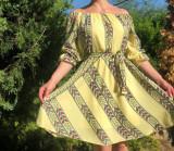 Cumpara ieftin Rochie stilizata cu motive traditionale Sanziana
