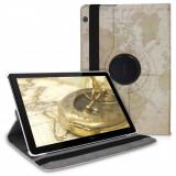 Husa pentru Huawei MediaPad T5, Piele ecologica, Maro, 46213.11