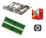 KIT Placa de baza ECS AMD® Vision A4-3300 / 8GB (2x4GB) DDR3 1333hz [ A55F-M3 ], Pentru INTEL, FM1