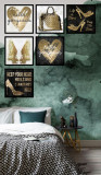 Cumpara ieftin Set 6 tablouri decorative Gold Heart, Heinner