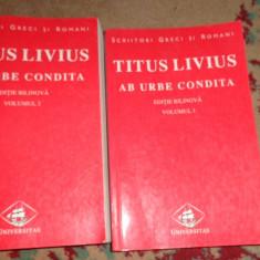 Titus Livius - De la fundarea Romei vol.1+2/cartile 1-2 3-4 /editie bilingva