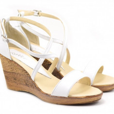 Sandale dama din piele naturala Made in Romania - S7A2, 35 - 40, Alb, Bej, Bleumarin, Galben, Gri, Maro, Negru, Rosu