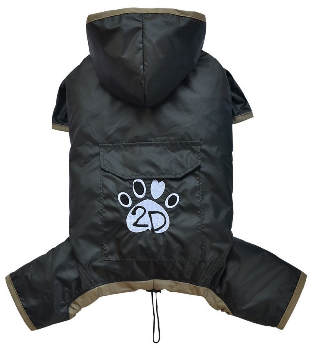 Pelerina ploaie cu gluga - negru - Doggydolly - BD453 (Marime: S)
