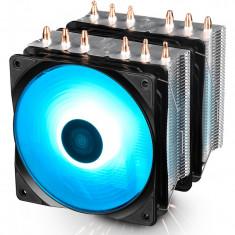 Cooler procesor Neptwin iluminare RGB, 6 heatpipe-uri de 6mm, 2x 120mm RGB Hydro Bearing fans