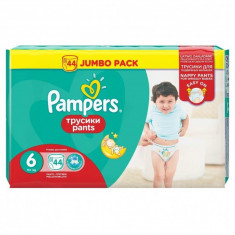 Scutece Pampers Pants Active Baby 6 Extra Large, 44 buc, 15+ kg