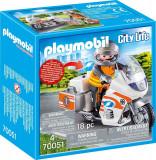 Playmobil City Life - Motocicleta de urgenta cu lumini