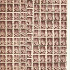 ROMANIA MNH 1945 - Uzuale Mihai I - fragment coala 100 L - 120 timbre