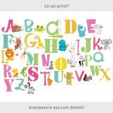 Sticker perete copii Alfabetul Vesel 120 x 81 cm