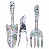 Mini unelte gradina Evotools, design floral, 3 buc/set