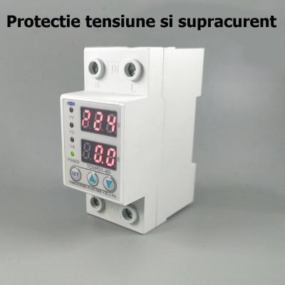 RELEU monofazic de PROTECTIE TENSIUNE supratensiune supracurent monofazat 220V foto
