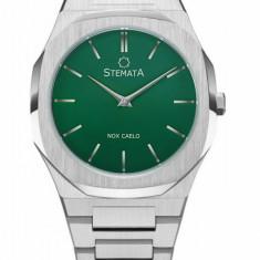 Ceas Stemata Code Editie Limitata, quartz, argintiu verde, otel inoxidabil, 38 mm