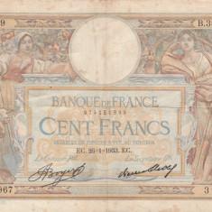 Franta   100 Francs 1933  VG