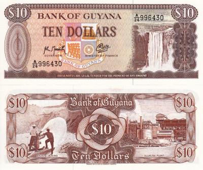 GUYANA 10 dollars 1992 UNC!!! foto