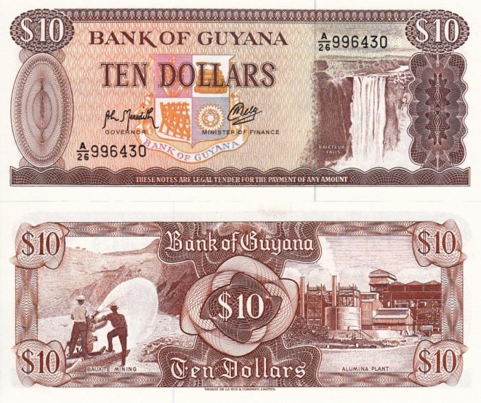 GUYANA 10 dollars 1992 UNC!!!