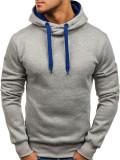 Bluză pentru bărbat cu glugă gri Bolf 2071