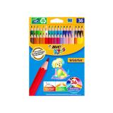 Creioane colorate 36 culori Bic Evolution 499140