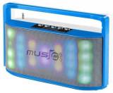 Boxa Portabila Wster WS-1808, Bluetooth, 6w RMS, iluminata led, handsfree, radio fm, slot tf, usb (Albastru)