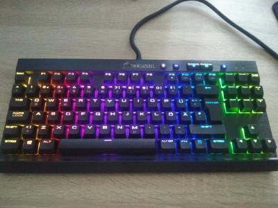 Tastatura Mecanica Corsair K65 Rapidfire Compact RGB LED foto