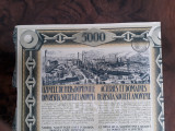 5000 Lei 1926 Uzinele de fier Resita actiuni vechi / actiune veche Romania