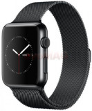 Smartwatch Apple Watch MMFK2LL, Retina Display, Bluetooth, Wi-Fi, Bratara metalica magnetica 38mm, Carcasa otel inoxidabil, Rezistent la apa si praf (