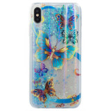 Husa Silicon Fashion iPhone XS MAX Butterfly Liquid