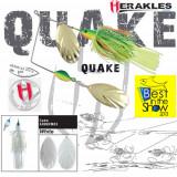 Spinnerbait Herakles Quake, White, 42g
