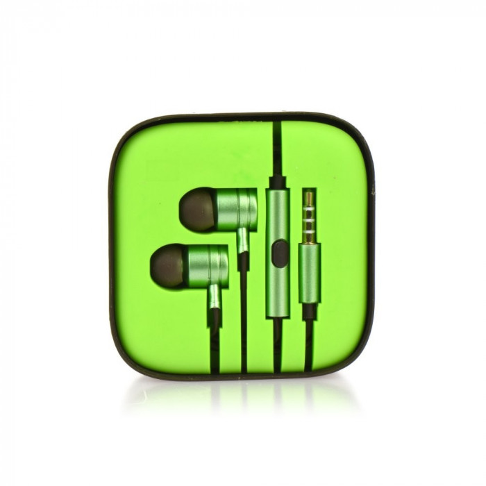 Casti Telefon Metal (Verde) Box