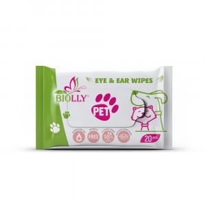 Set Servetele umede BIOLLY EYE & EAR wipes for pets, 40 pachete x 20,. 800 buc.