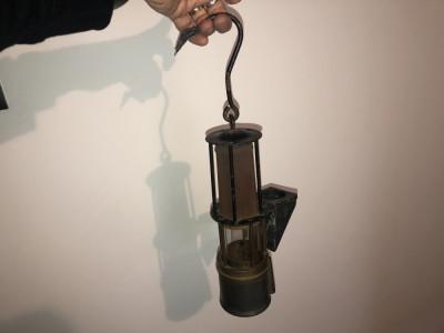 Lampa lampas vechi german, de mina,1960 foto
