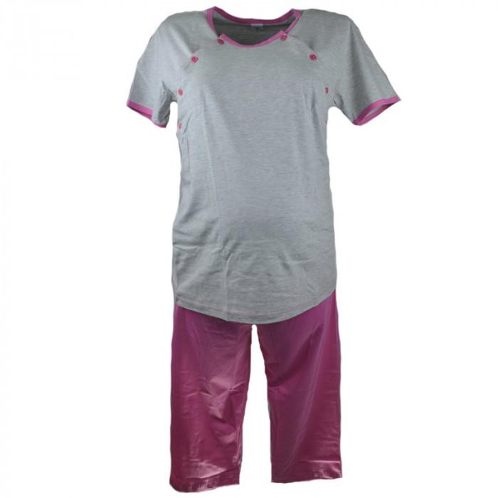 Pijama pentru alaptat Marcinkowski MEML2, Gri