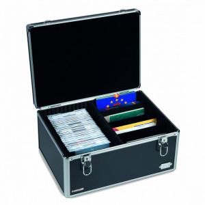 Cufar aluminiu CARGO MULTI XL negru pentru carti postale/seturi