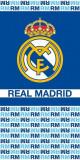Cumpara ieftin Prosop Real Madrid, bleumarin-bleu, 70x140cm, bumbac velur