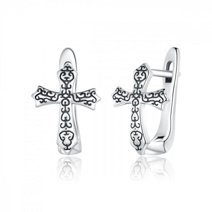 Cercei Argint Cruce