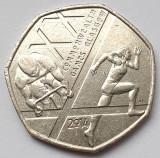 Monedă 50 pence 2014 Marea Britanie , Commonwealth games Scotland, Europa
