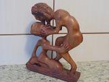 //// // Sculptură veche africană lemn masiv //
