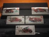 URSS 1985,MASINI DE POMPIERI,SERIE STAMPILATA, Stampilat