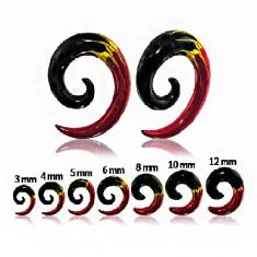 Expander pentru ureche - spirală în trei culori - Lățime: 3 mm